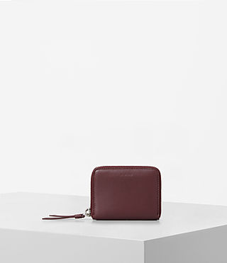 Damen Kanda Mini Leather Wallet (MAHOGANY RED)