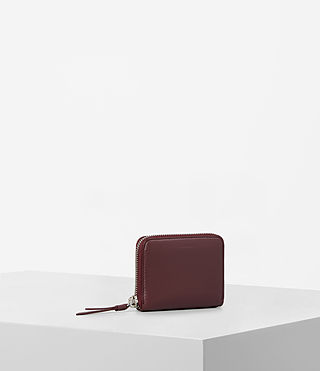 Womens Kanda Mini Leather Wallet (MAHOGANY RED) - product_image_alt_text_3