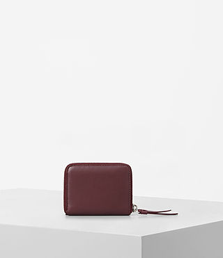 Womens Kanda Mini Leather Wallet (MAHOGANY RED) - product_image_alt_text_4