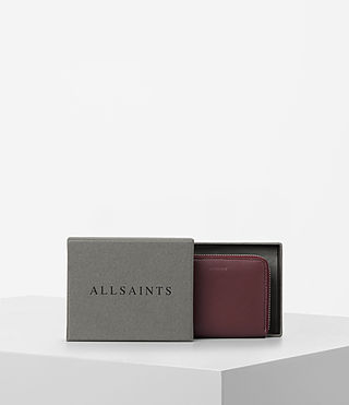 Womens Kanda Mini Leather Wallet (MAHOGANY RED) - product_image_alt_text_5