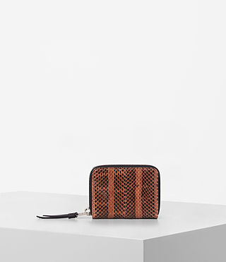 Womens Kanda Mini Snake Wallet (Orange) - product_image_alt_text_1