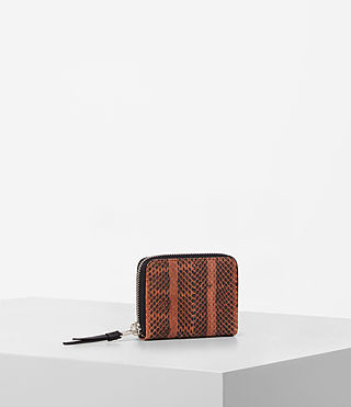 Womens Kanda Mini Snake Wallet (Orange) - product_image_alt_text_3