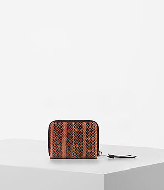 Mujer Kanda Mini Snake Wallet (Orange) - product_image_alt_text_4