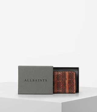 Mujer Kanda Mini Snake Wallet (Orange) - product_image_alt_text_5