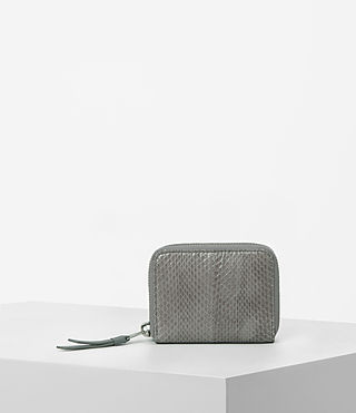 Womens Kanda Mini Snake Wallet (Oyster Grey)