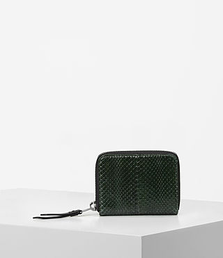 Damen Kanda Mini Snake Wallet (Forest Green)