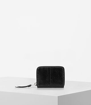 Womens Kanda Mini Snake Wallet (Black)