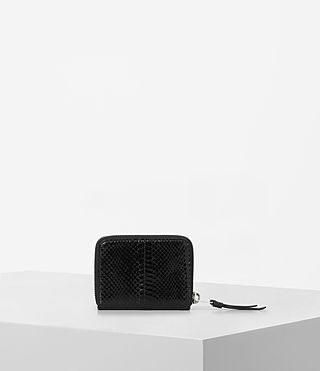 Women's Kanda Mini Snake Wallet (Black) - product_image_alt_text_4