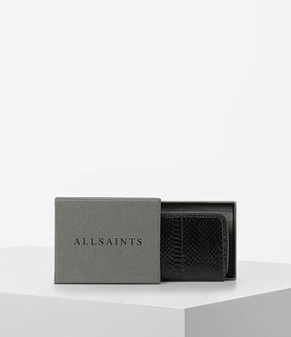 Damen Kanda Mini Snake Wallet (Black) - product_image_alt_text_5