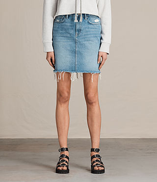 Women's Kim Denim Skirt (LIGHT INDIGO BLUE) -