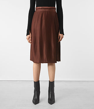 Damen Merin Skirt (AUBERGINE RED)