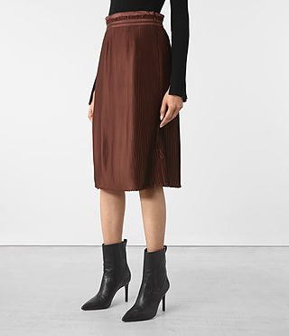 Womens Merin Skirt (AUBERGINE RED) - product_image_alt_text_2