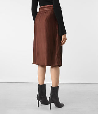 Damen Merin Skirt (AUBERGINE RED) - product_image_alt_text_3
