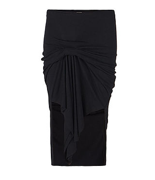 Womens Riviera Skirt (Black) - product_image_alt_text_1