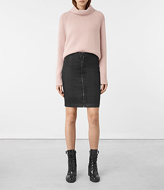 Damen Jade Pencil Skirt (Black)