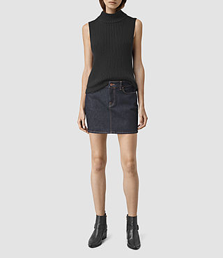 Womens Ace Mini Denim Skirt (Rinse Wash)
