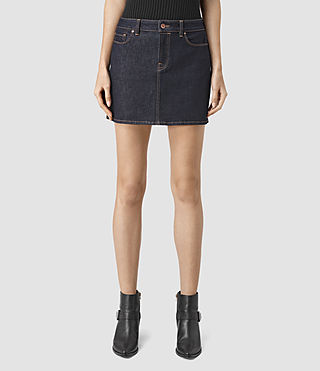 Womens Ace Mini Denim Skirt (Rinse Wash) - product_image_alt_text_2