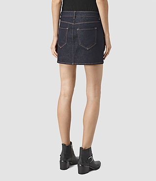 Womens Ace Mini Denim Skirt (Rinse Wash) - product_image_alt_text_4
