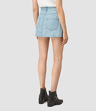 Mujer Annett Folded Mini Skirt (LIGHT INDIGO BLUE) - product_image_alt_text_4