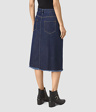 Women's Annett Folded Skirt (DARK INDIGO BLUE) - product_image_alt_text_3