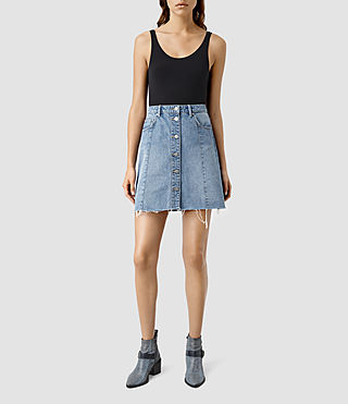 Womens Conny Denim Skirt (Indigo Blue) - product_image_alt_text_1