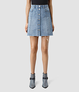 Womens Conny Denim Skirt (Indigo Blue) - product_image_alt_text_2