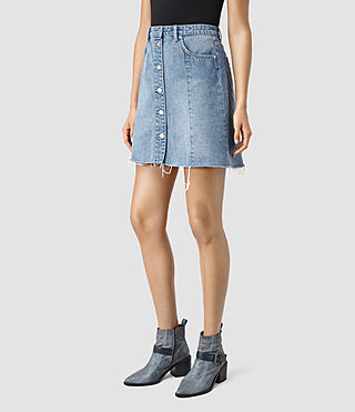 Womens Conny Denim Skirt (Indigo Blue) - product_image_alt_text_3