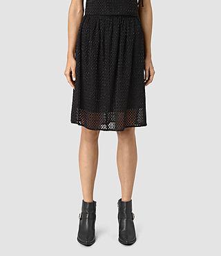 Womens Milda Skirt (Black) - product_image_alt_text_3
