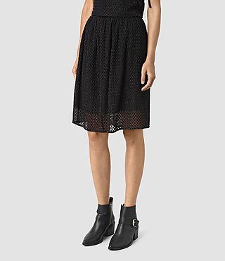 Womens Milda Skirt (Black) - product_image_alt_text_4