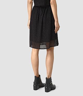 Womens Milda Skirt (Black) - product_image_alt_text_5