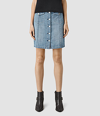 Mujer June Denim Skirt (Indigo Blue) - product_image_alt_text_2