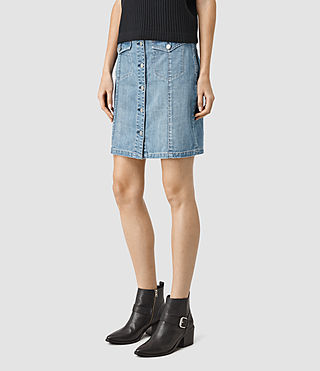 Mujer June Denim Skirt (Indigo Blue) - product_image_alt_text_3