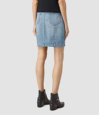 Mujer June Denim Skirt (Indigo Blue) - product_image_alt_text_4