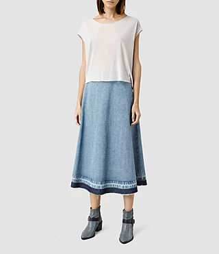 Womens Sina Long Skirt (WSHD LGHT INDG BLU)
