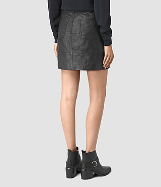 Femmes Routledge Leather Skirt (Black) - product_image_alt_text_4