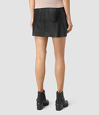 Women's Titherley Leather Skirt (Black) - product_image_alt_text_4