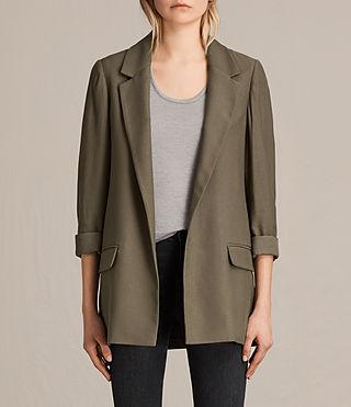 Womens Aleida Blazer (Khaki Green) - product_image_alt_text_1