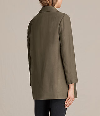 Womens Aleida Blazer (Khaki Green) - product_image_alt_text_3