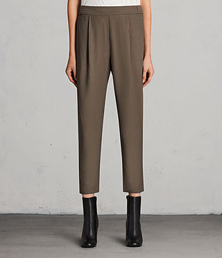 Womens Aleida Pants (Khaki Green) - product_image_alt_text_1