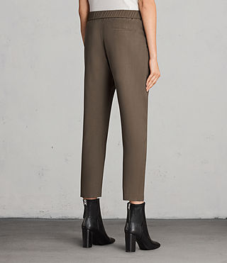Womens Aleida Pants (Khaki Green) - product_image_alt_text_3