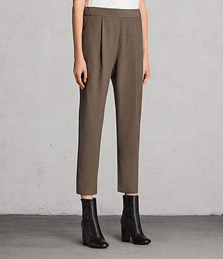 Womens Aleida Pants (Khaki Green) - product_image_alt_text_4