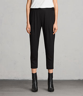 Women's Aleida Trousers (Black) -