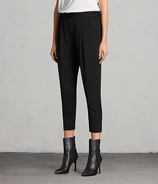 Women's Aleida Trousers (Black) - product_image_alt_text_3