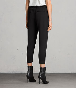Women's Aleida Trousers (Black) - product_image_alt_text_4