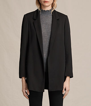 Womens Alexia Laced Blazer (Black)