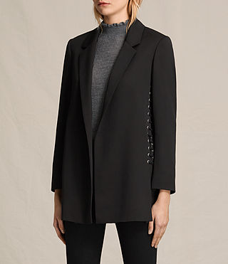 Damen Alexia Laced Blazer (Black) - product_image_alt_text_3