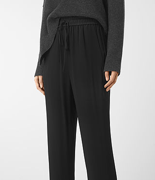 Mujer Thula Trousers (Black) - product_image_alt_text_2