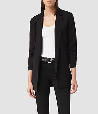 Womens Roya Split Blazer (Black)