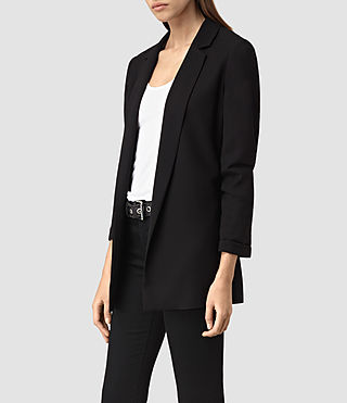 Donne Roya Split Blazer (Black) - product_image_alt_text_2