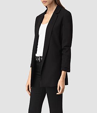 Womens Roya Split Blazer (Black) - product_image_alt_text_2